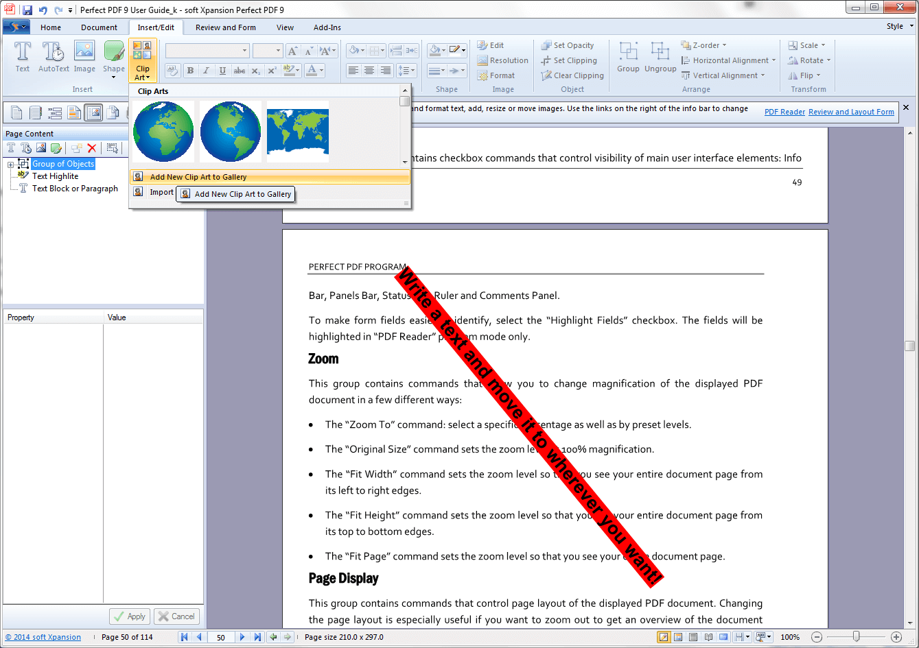 pdf page editor